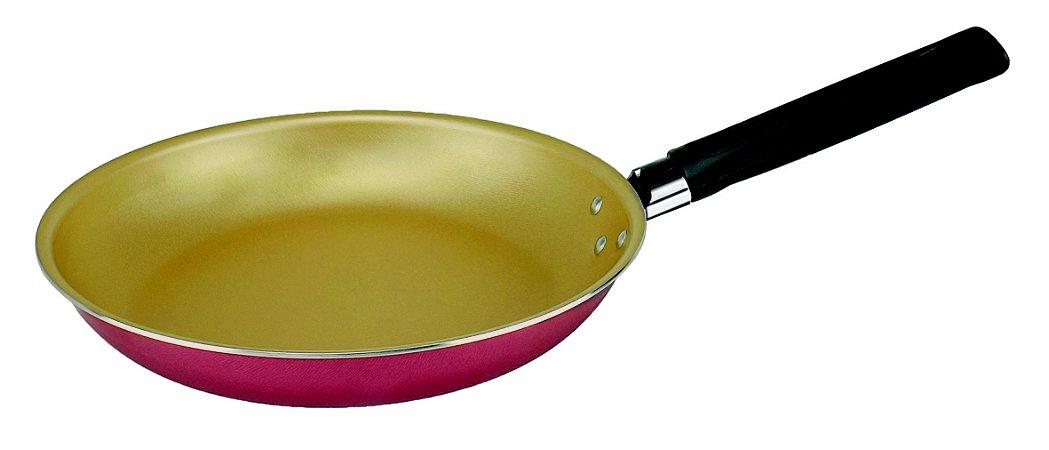 Frigideira Francesa Antiaderente Cereja/Creme 24 cm - Luz No