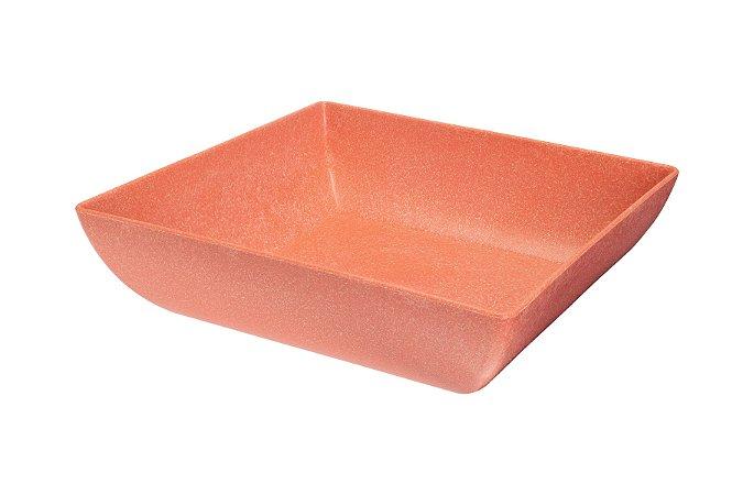 Saladeira Quadrada Coral750ml - Evo