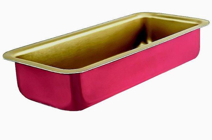 Forma para Pão Antiaderente Cereja/Creme(23 x 10.7 x 4.5 cm)