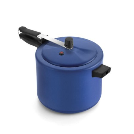 Panela de Pressão Antiaderente Azul/Preto 7.0 L - Luz Nobre