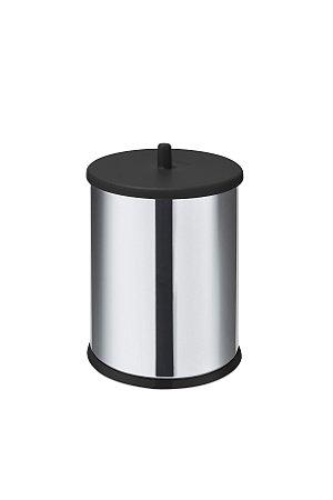Lixeira em Inox 6,3 L c/ tampa e fundo preto - Martinazzo