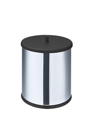 Lixeira em Aço Inox 3,2 L c/ tampa e fundo preto - Martinazz