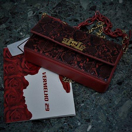 Bolsa Lança Perfume Couro Vermelha