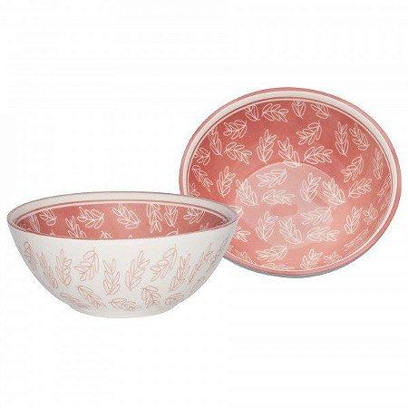 Oxford Tigela Cerâmica Pequena Flora Rosa 600ml
