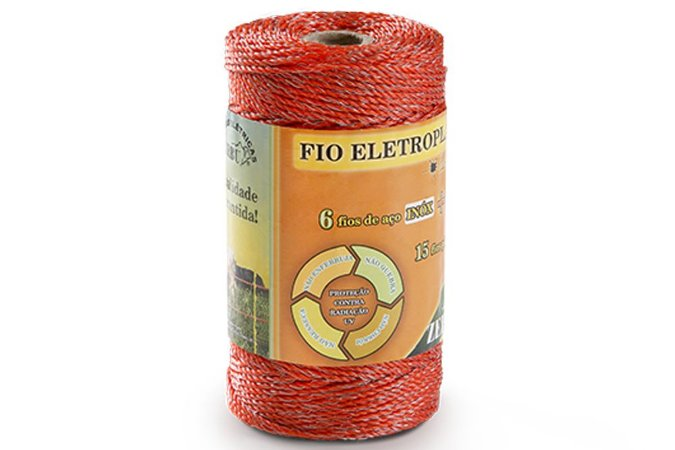 Zebu eletroplástico para cerca com 6 fios inox 200mt