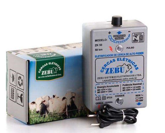 Zebu eletrificador de cerca 3500mts 220v ZK50