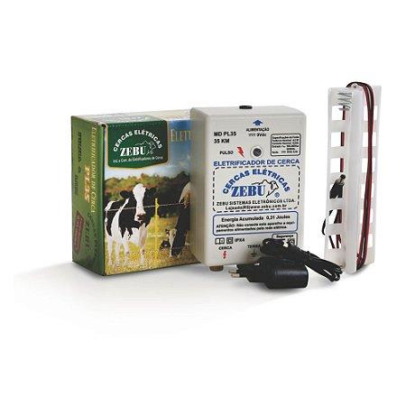 Zebu eletrificador de cerca a pilha e luz 220v PL35