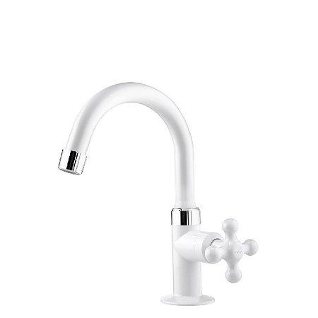 Viqua torneira lavatório alta Maruja branca Ref 1130702