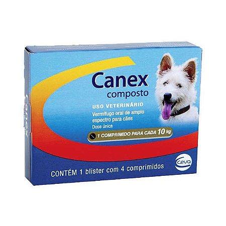 Ceva Canex Vermifugo Composto para Cães - 4 Comprimidos