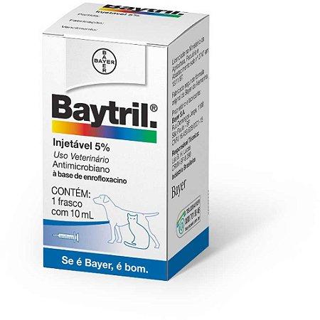 Baytril Injetável 5% Cães e Gatos 10ML