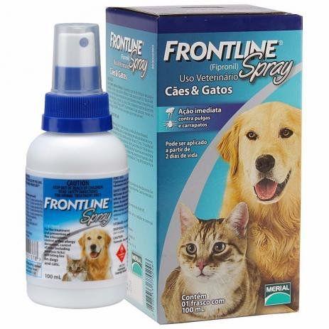 Frontline Antipulgas e Carrapatos 100 ML para Cães e Gatos