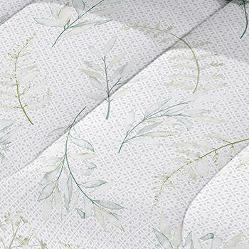 Santista Jogo Lençol Solteiro Royal Flora Verde