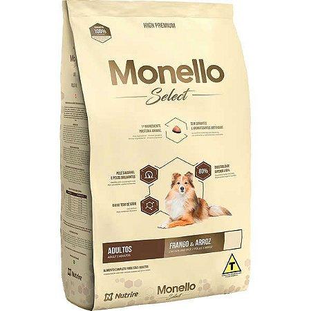 Monello Ração Select Dog Adulto Frango/Arroz 15KG