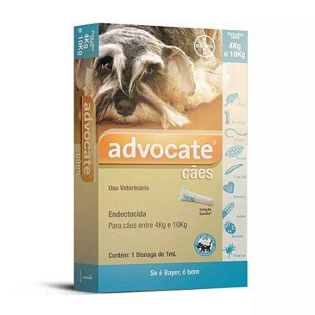 Advocate Cães 1,0mL (4Kg a 10Kg)
