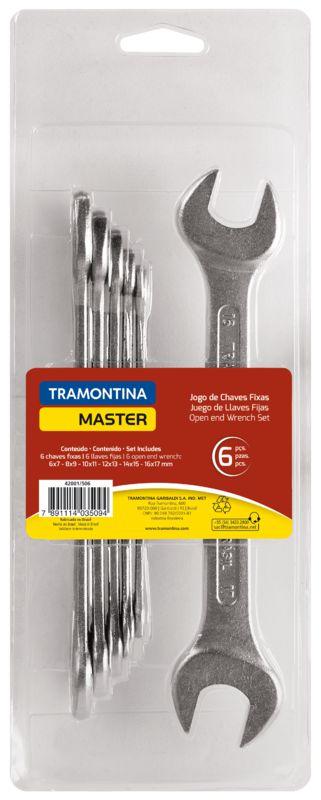 Tramontina Jogo de Chaves Fixa Aço Especial Cromado 6Pcs