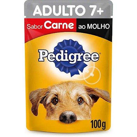 Pedigree Sachê Adulto 7+ Carne ao Molho 100GR