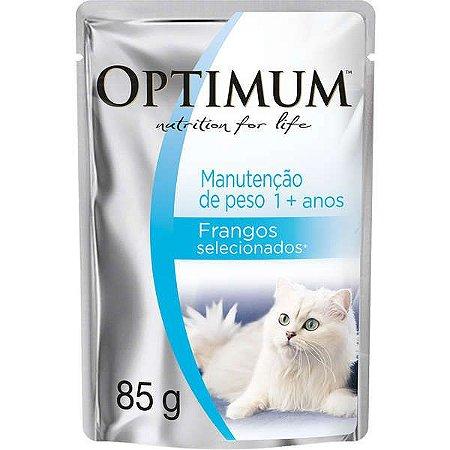 Optimum Cat Sachê Manuntenção de Peso Adulto Frango 85G