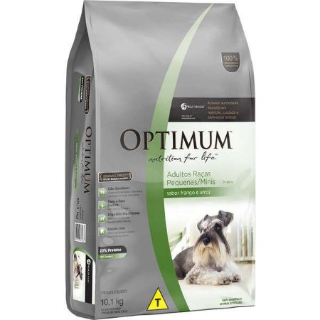 Optimum Dry Dog Adulto Raças Pequenas e Minis Frango/Arroz 10,1KG