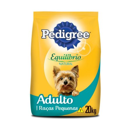 Pedigree Equilíbrio Natural Adulto Cães Raças Pequenas 20KG