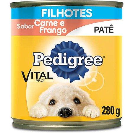 Pedigree Ração Úmida em Lata Cães Filhotes Carne/Frango 280G