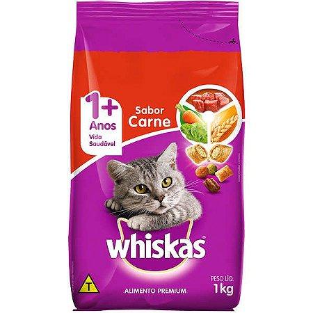 Whiskas Ração Carne 1+ Anos 1KG