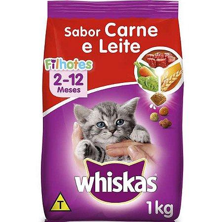 Whiskas Ração Filhotes Carne/Leite 1KG