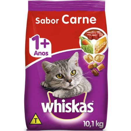 Whiskas Ração Dry Adulto Carne 10,1KG