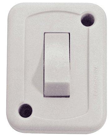 Tramontina Interruptor de Sobrepor 1 Tecla Simples