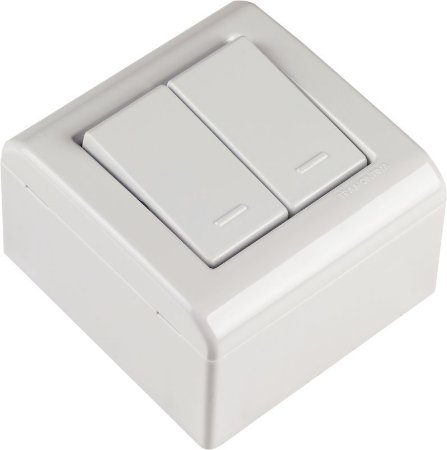 Tramontina LizFlex Caixa de Sobrepor C/ 2 Interruptores Simples
