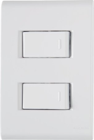 Tramontina Liz 2 Interruptores Simples 10A