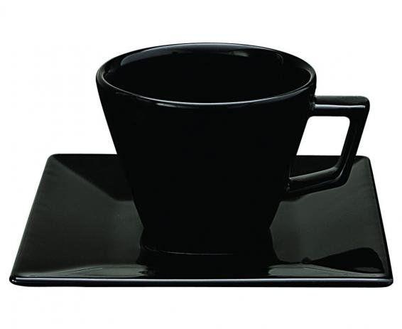 Oxford Xícara Chá C/ Prato Quartier Black
