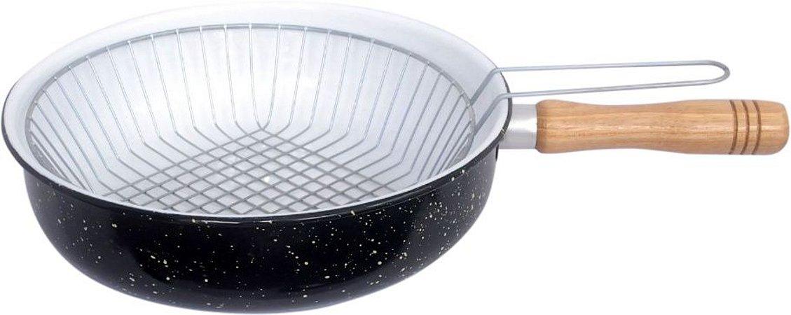 Metalsilva Fritadeira Esmaltada C/ Cesto N-26