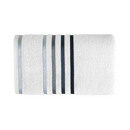 Karsten Toalha Rosto Lumina Branco/Azul