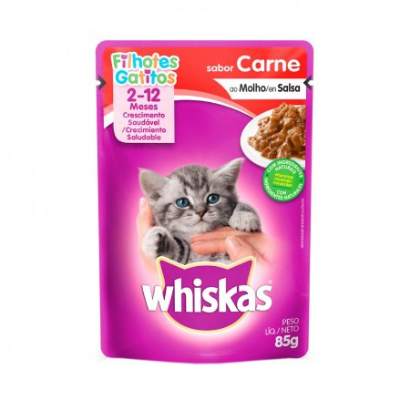 Whiskas Sachê Filhotes Carne 85G