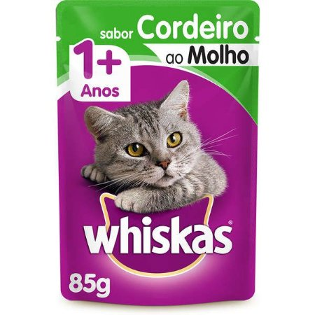 Whiskas Sachê Adulto Cordeiro 85g