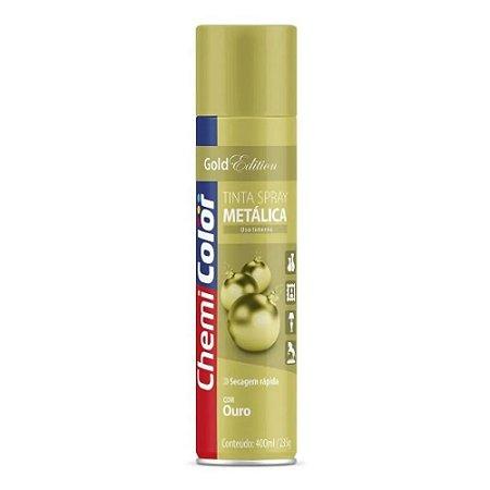 Chemicolor Tinta Spray Metálica Ouro 400mL
