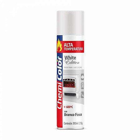 Tinta Spray Alta Temperatura Branco Fosco 350mL