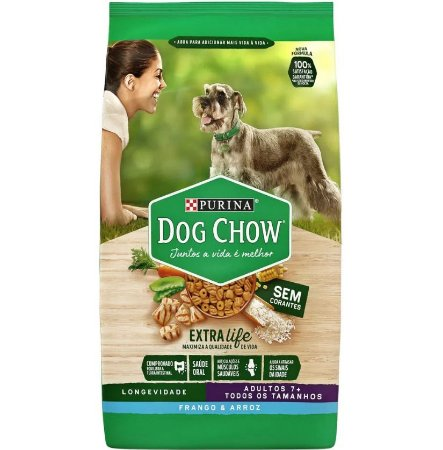 Purina Dog Chow Adulto +7 Frango e Arroz 15KG