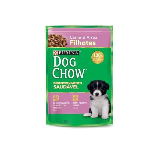 Purina Dog Chow Filhotes Carne/Arroz 100g