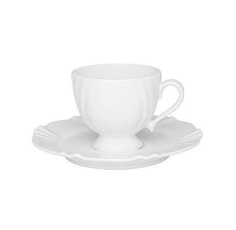 Oxford Xícara Chá C/ Pires Soleil White