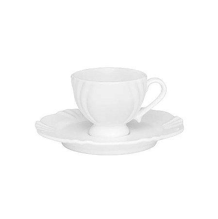 Oxford Xícara Cafézinho C/ Pires Soleil White