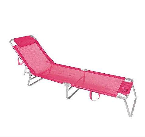 Mor Cadeira Espreguiçadeira Alumínio Rosa