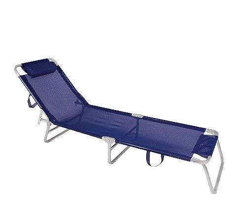 Mor Cadeira Espreguiçadeira Alumínio Azul Marinho