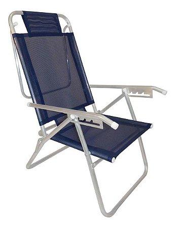 Zaka Cadeira de Praia Up Azul Marinho