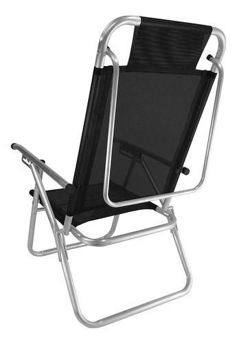 Zaka Cadeira de Praia Up Preto