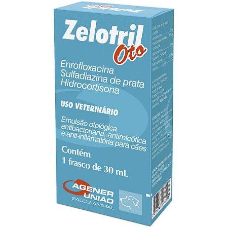 Agener União Zelotril Antibiótico Otológico Cães 30mL