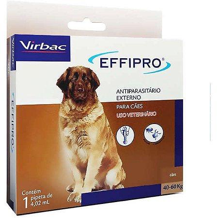 Virbac Effipro Antipulgas e Carrapatos 4,02 mL para Cães de 40 até 60 Kg