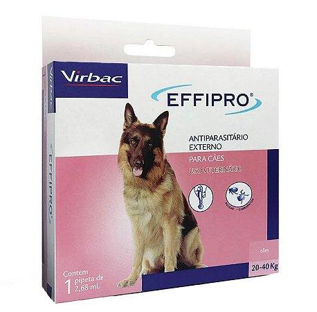 Virbac Effipro Antipulgas e Carrapatos Cães 20 a 40kg 2,68mL