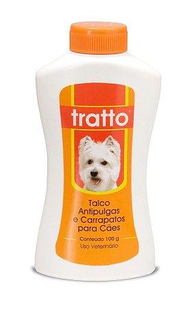 Tratto Talco Antipulgas e Carrapatos Cães 100g