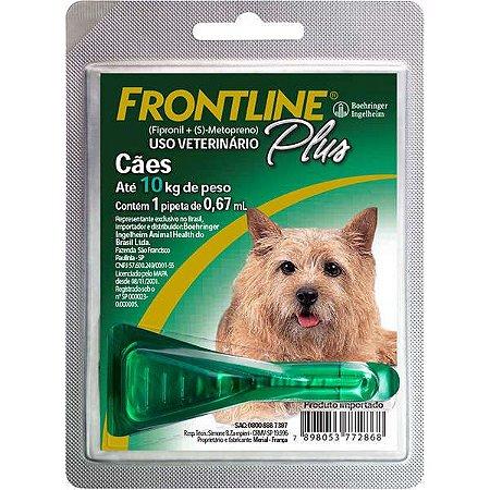 Frontline Plus Antipulgas e Carrapatos para Cães de 1 a 10 Kg